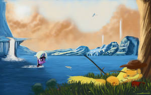 Gone fishin by Auroriia