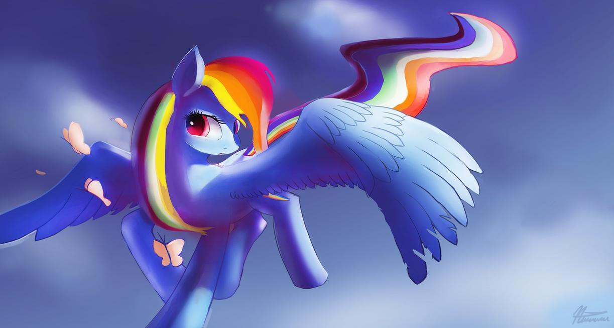 Rainbow dash, by Auroriia