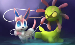 Cradily and Sylveon