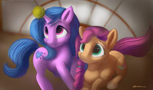 Sunny starscout and Issy Moonbow,