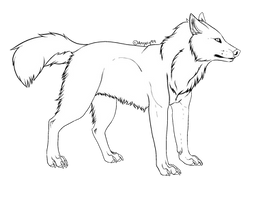 .: Free Wolf Line Art :. by Angely99