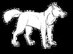 .: Free Wolf Line Art :.