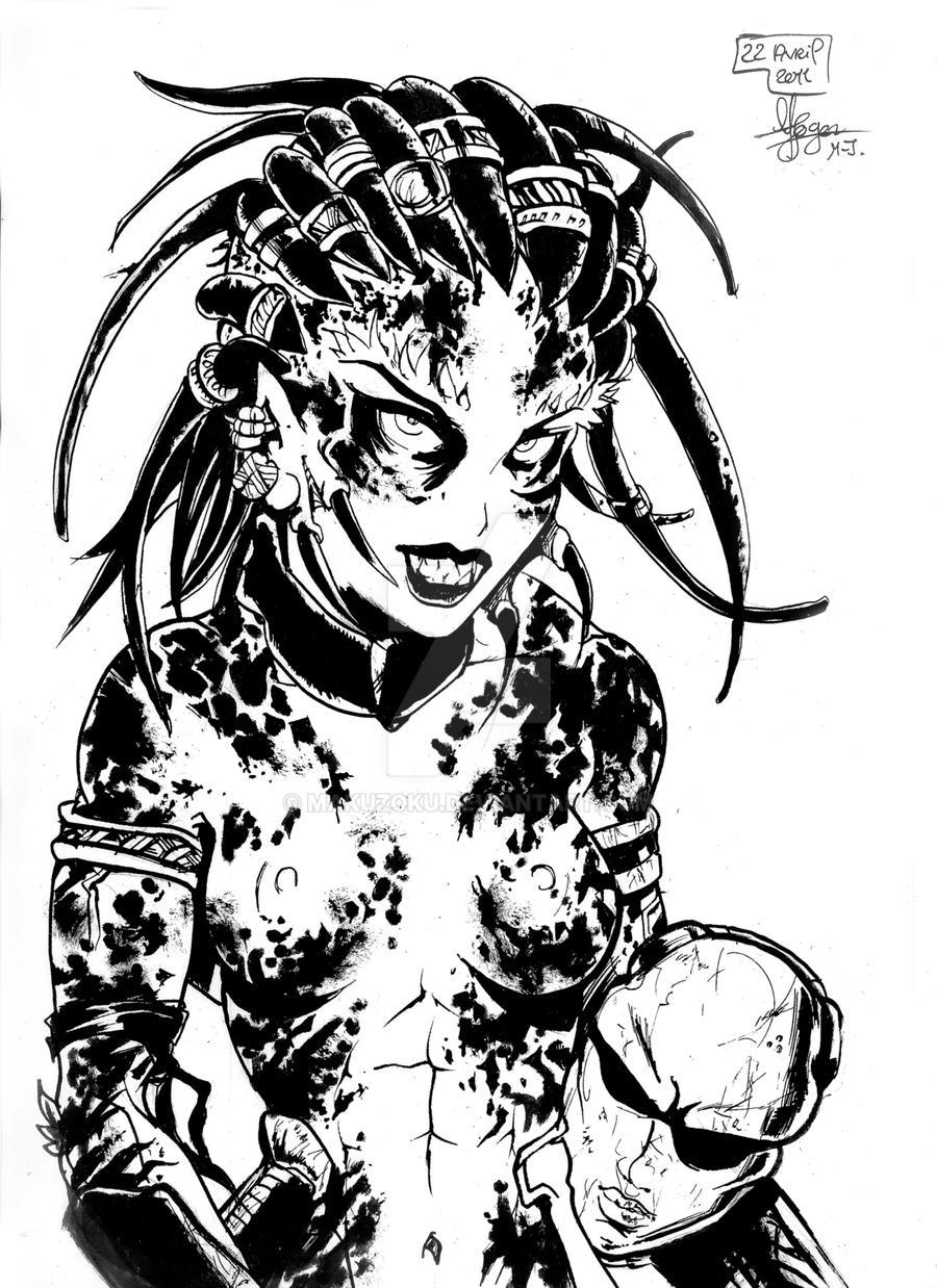 YAUTJA FEMALE by MaKuZoKu