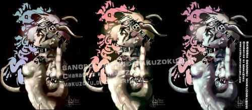 SANGRIA DEMON triple colors by MaKuZoKu