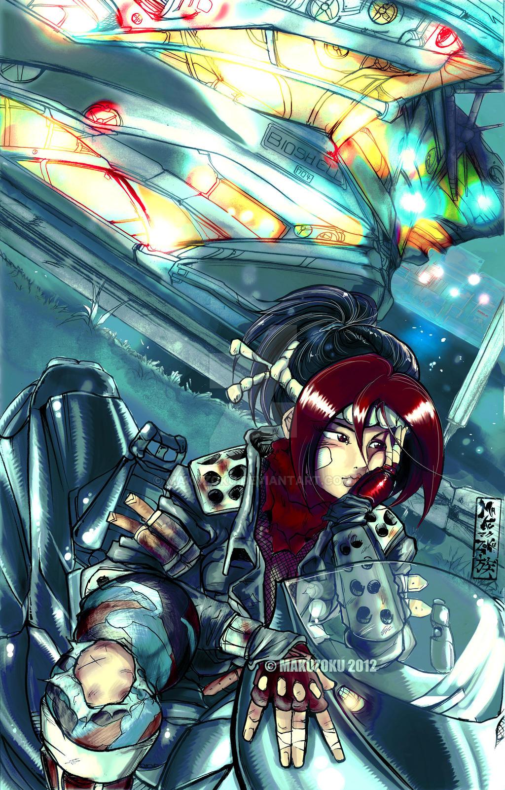 Izumi at the Bioshell -v2 by MaKuZoKu