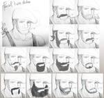Character design -Facial hair studies by MaKuZoKu