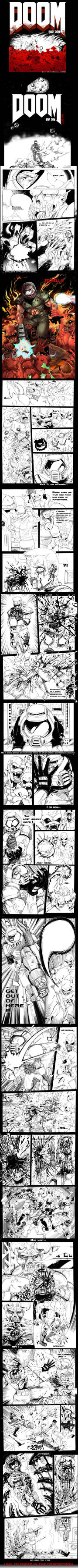DOOM BAD DAY Pt 1/2 (Comic) by MaKuZoKu