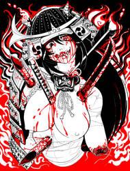 Demon Samurai Girl by MaKuZoKu