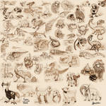 Sangria project : Fauna sketch dump by MaKuZoKu