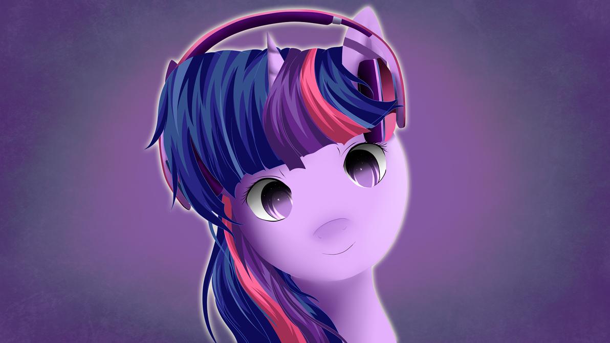 Twilight Sparkle Headphones by Skardan