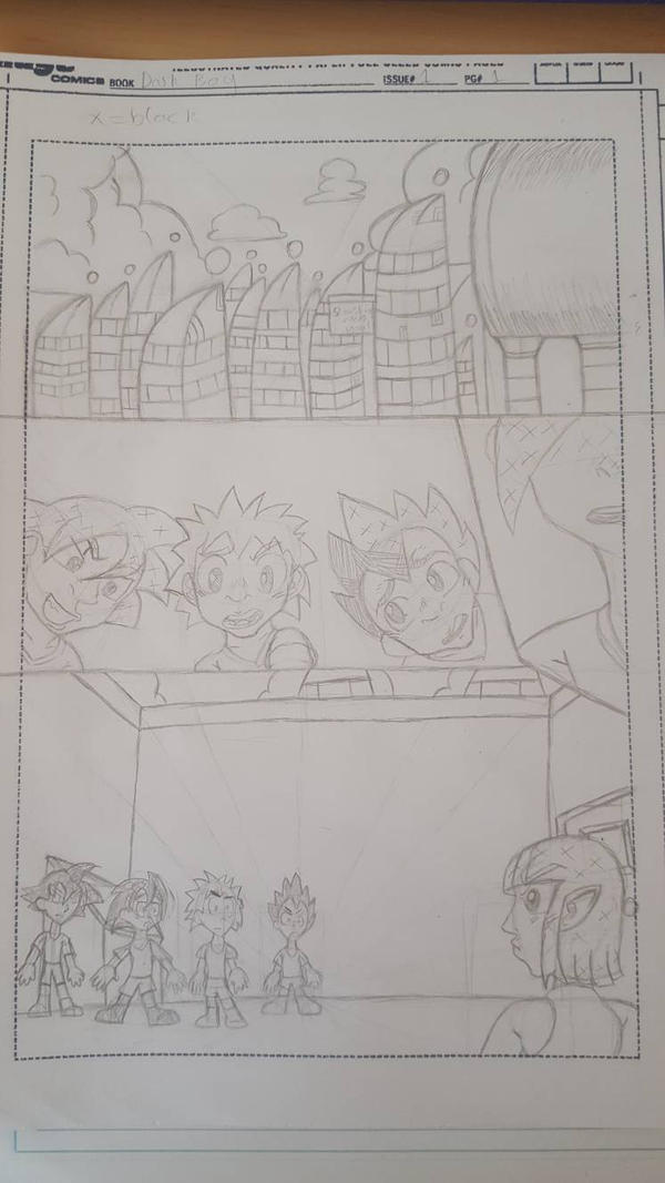 Dark Boy page one pencils by Amazingartistred