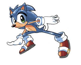 Sonic (Jason Jensen style experiment)  by Amazingartistred