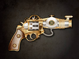 Steam powered gun by IllustratorG