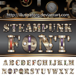 Steampunk FONT V2 by IllustratorG