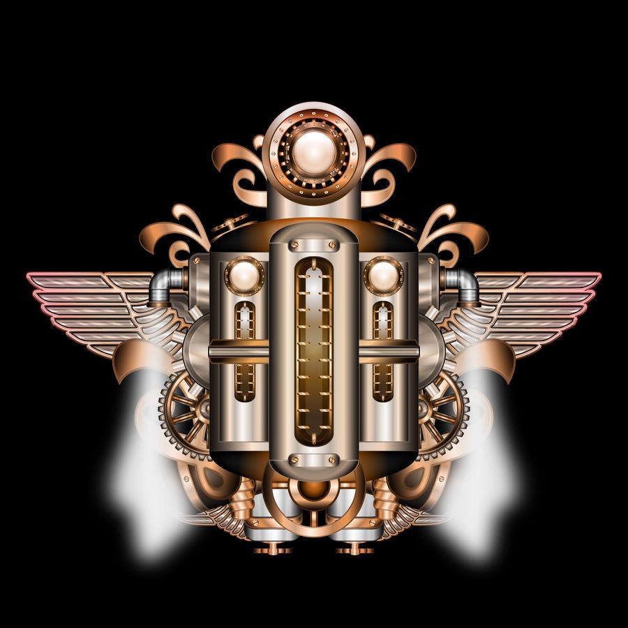 Steampunk Machine Totem