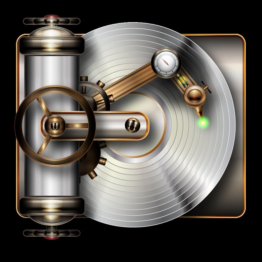 Steampunk cd player