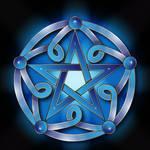 Pentacle in blue