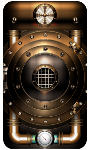 Steampunk Smartphone Cover First Idea By Illustratorg On Deviantart