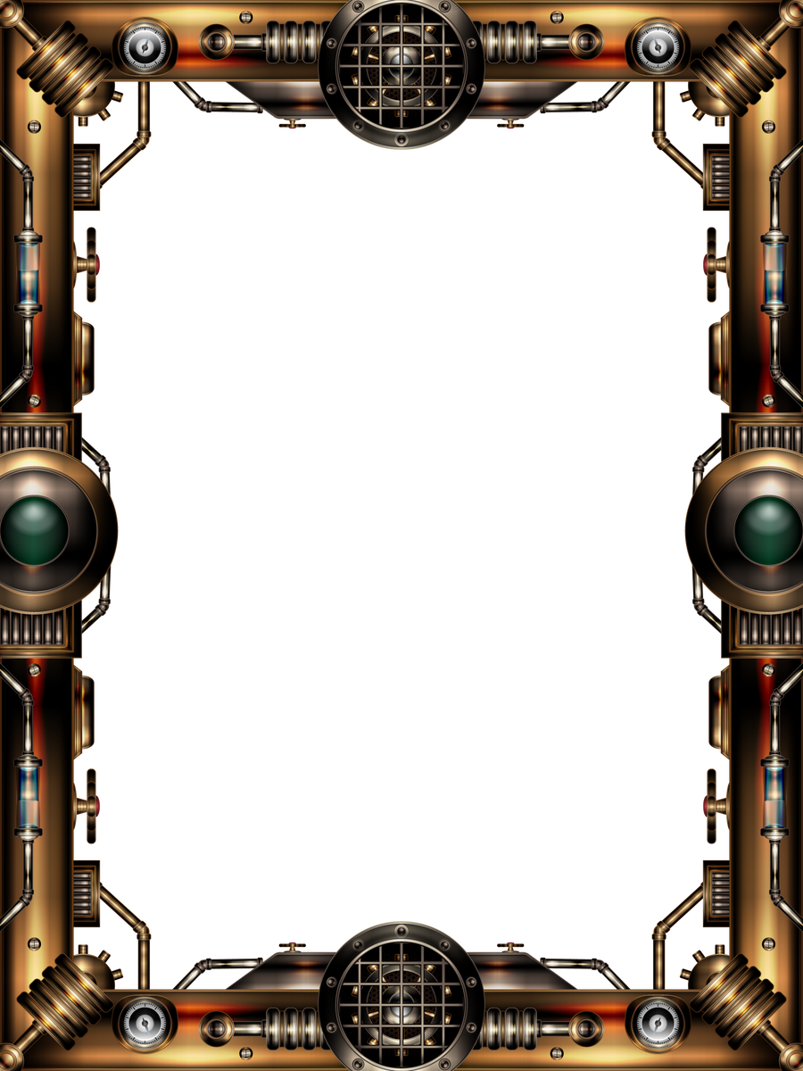 Steampunk Frame by IllustratorG