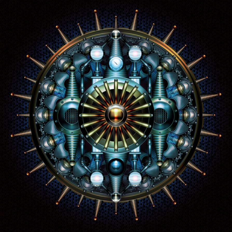 tesla mandala by IllustratorG