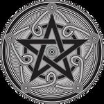 Pentagramm in Lineart