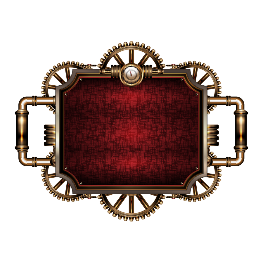 The gallery for --> Steampunk Border Vector