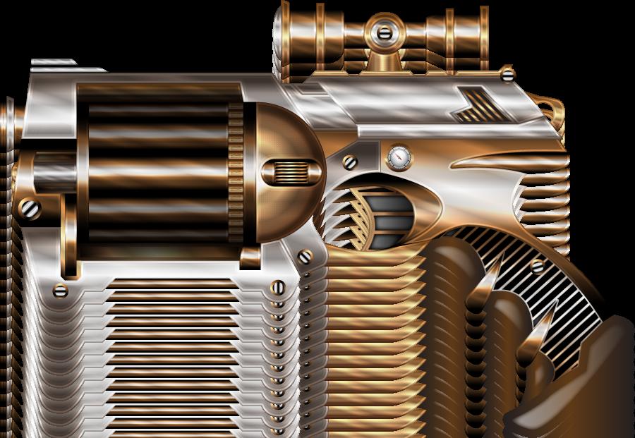 Steampunk NERF II by IllustratorG