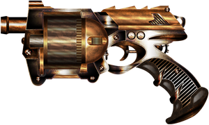 Rusty Steampunk Gun