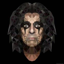Polygonart Alice Cooper