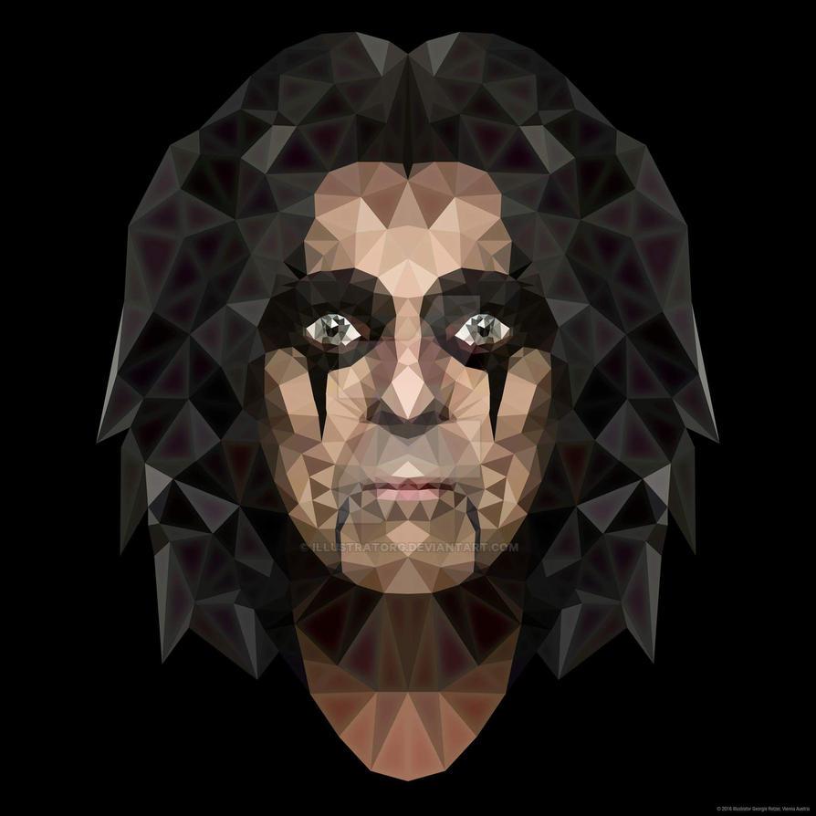 Polygonart Alice Cooper by IllustratorG