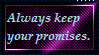 Stamp: Promises are important by ShadowStarEXE