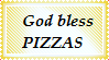 God bless PIZZAS Stamp by ShadowStarEXE