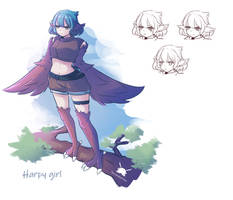 Harpy Girl Colored by Shizakichi