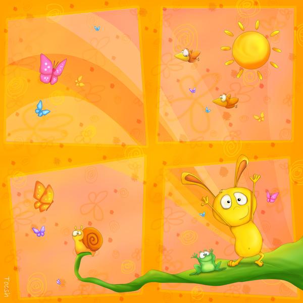 Happy Orange baby room by Tooshtoosh