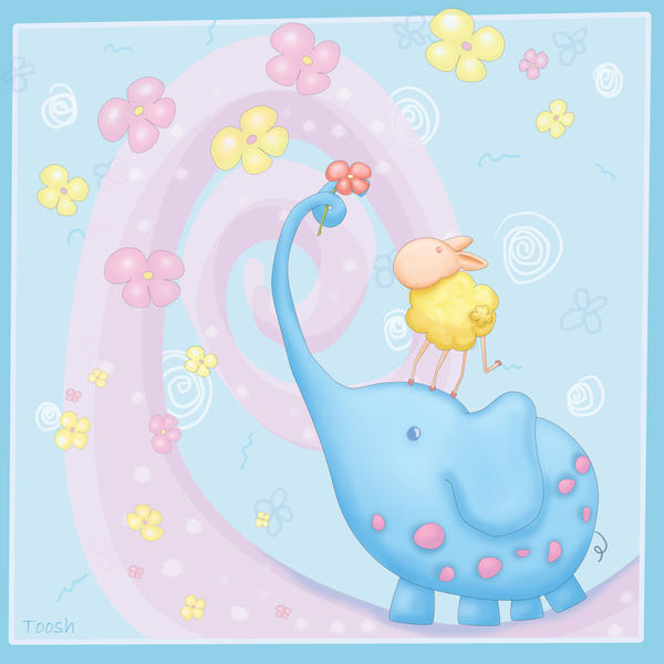 Happy Blue Baby Room by Tooshtoosh