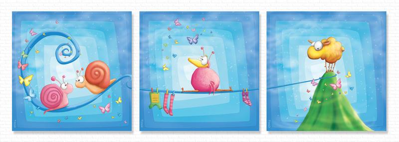 Kids Room Trilogy - Horizontal by Tooshtoosh
