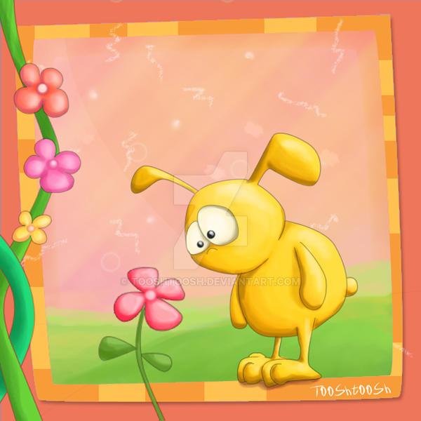 A Flower Thing I - Bunny by Tooshtoosh