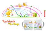 Bunny snail bees Mug by Tooshtoosh