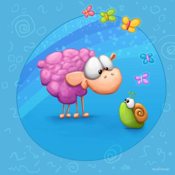 Meet The Little ones - Sheep by Tooshtoosh