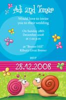 Wedding Invitation - Snails by Tooshtoosh