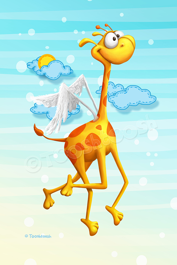 Fly Giraffe fly by Tooshtoosh