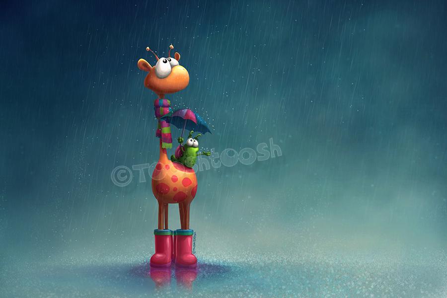 Winter Giraffe by Tooshtoosh