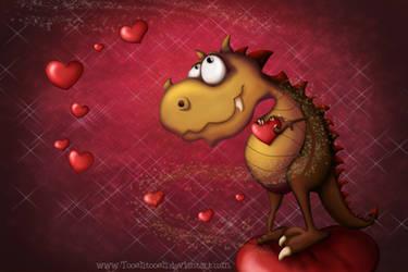 Dragon in love by Tooshtoosh