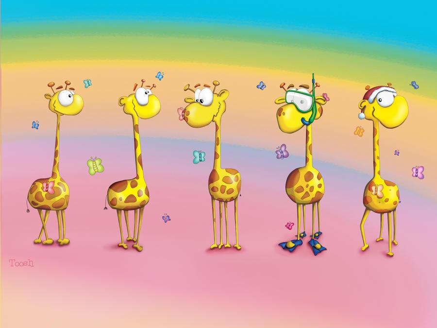 Giraffes by Tooshtoosh