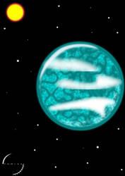 Water Planet Concept Art by tjblazer85
