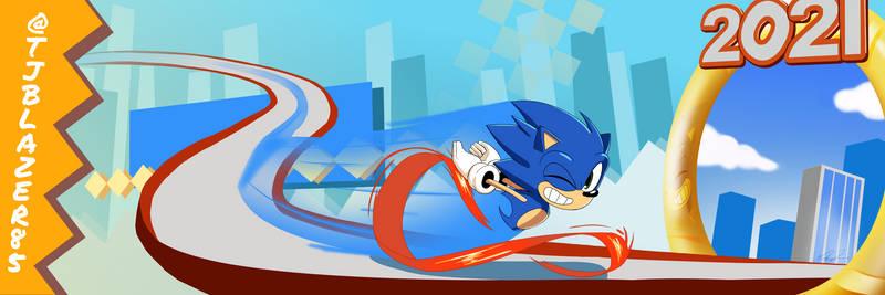 Sonic 30th Anniversary Banner