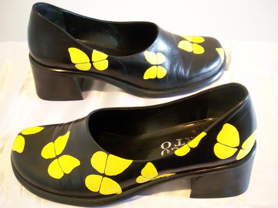 'On Golden Wings' shoes 4 by KimsButterflyGarden