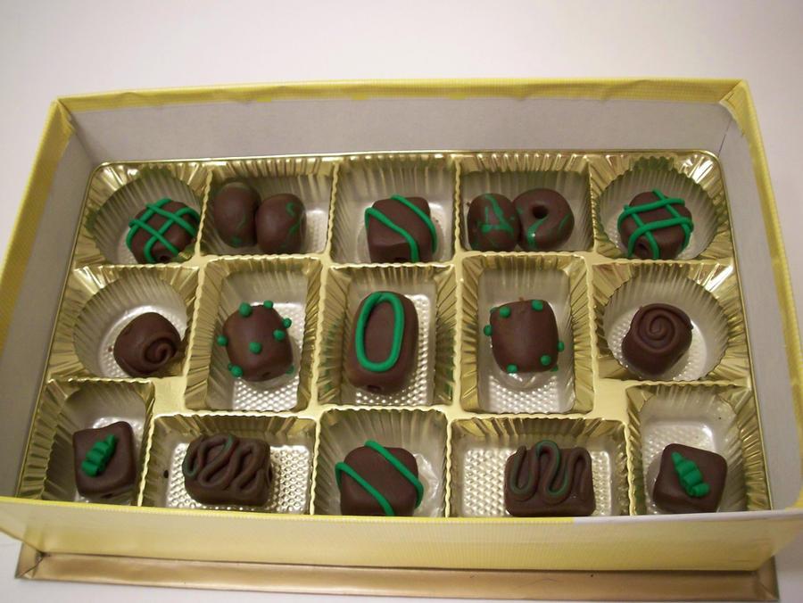 Dark Chocolate Mint Bead set by KimsButterflyGarden