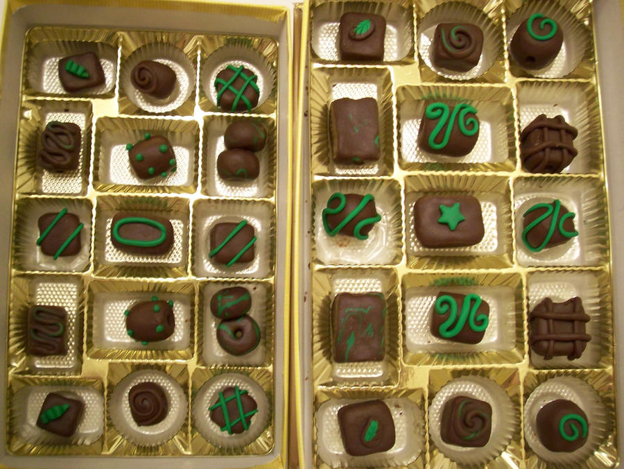 Dark Chocolate Mint Beads by KimsButterflyGarden