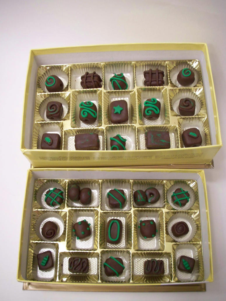Dark Chocolate Mint Beads 3 by KimsButterflyGarden